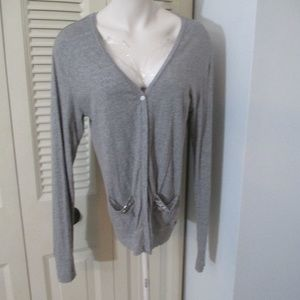 VS Pink Gray Oversized Bling Grandpa Cardigan XS